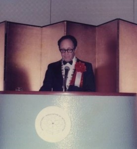 President of the International Society of Gerontology 1975